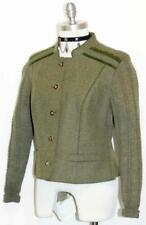"Loden WOOL Sweater Jacket AUSTRIA ~ GEIGER Winter WARM Women GREEN Coat b38"" 8 S"