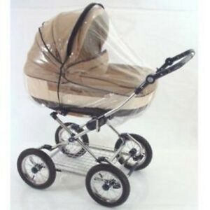 RAIN COVER TO FIT BEBECAR, OBABY, BABYSTYLE & OTHER LARGE PRAM CARRYCOTS UK MFD