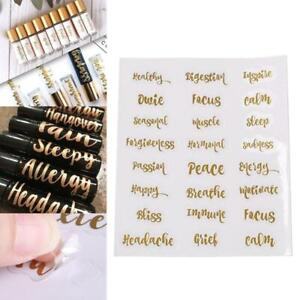 Essential Oil Bottle Labels Stickers Perfume Bottle Self-Adhesive Decals Tags