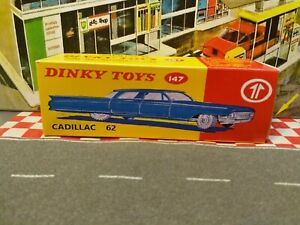 Dinky Toys 147  Cadillac 62 EMPTY Repro box ONLY  NO CAR
