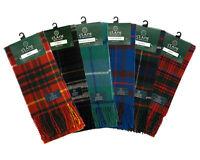 Scottish 100% Wool Tartan Clan Scarf, Many Tartan Scarves, NEW! A-G