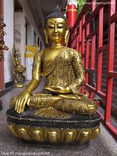 "39""Huge Tibet Tibetan Buddhism Temple Bronze Gild Sakyamuni Rulai Buddha Statue"