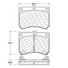 105.04730 - Centric Posi-Quiet Ceramic Disc Brake Pad Set With Hardware