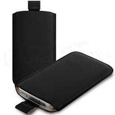 PU Leather Pouch Case Cover Sleeve Skin Sock Fitted For Your Phone - 12 Colours
