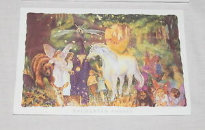 Kirks Folly Enchanted Forest Greeting Card Unicorn Fairies Witch NEW