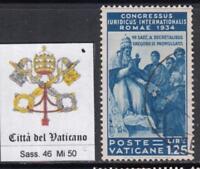 VATICANO 1935 Congresso Giuridico 1,25 Lire used  cv 90$ light cancel super cent
