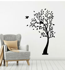 Vinyl Wall Decal Tree Leaves Forest Nature Birds Nest Family Stickers (g2564)