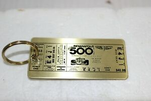 VINTAGE 1983 INDIANAPOLIS 500 METAL TICKET KEY CHAIN 67TH RACE