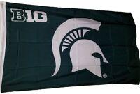 Michigan State University MSU spartans Big 10 Silk Screen 3x5 Flag NEW