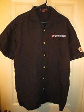 Team Suzuki Button Front Short Sleeve Motorcycle Shirt Pro Racing Size Large