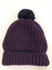 Knit Beanie Infant Fleece Lined Pompom 0-6 Months Purple Nwt babyGap Winter Fall