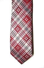 Nick Cannon Men's 100% Silk Neck Tie, Spearment Plaid