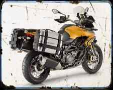 Aprillia Capernord Rally 2015 02 A4 Metal Sign Motorbike Vintage Aged