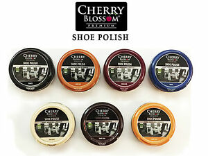 Cherry Blossom Traditional Shoe Polish Paste 50ml - Smooth Leathers - 7 Colours