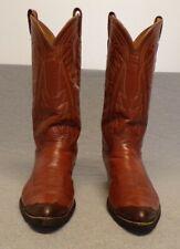 Vtg Tony Lama Western Black Label Leather Exotic Lizard tip boots men's 11.5D