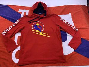 Polo USA Ralph Lauren Ski Cookie hoodie Shirt Stadium 92 93 Size Medium Skier