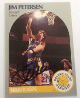 Jim Petersen Hand Signed 1990 Hoops Card Golden State Warriors