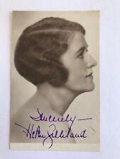 RARE HELEN GILLILAND SIGNED PHOTO CARD - SILENT MOVIES ACTRESS - AUTOGRAPH
