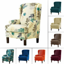 Stretch Fit Furniture Protector Wingback Slipcover Wing Chair Covers