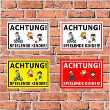 in 4 Größen Spielende Kinder S40-036 Schild Achtung