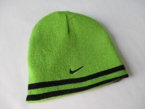 Boy's Reversible Green and Black Nike Beanie Hat