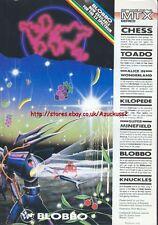 """Blobbo ZX Spectrum MTX Series """"Vintage Software"""" 1984 Magazine Advert #5219"""