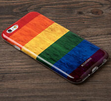 for iPhone 6 / 6S - #LOVEWINS Pride Flag Hard TPU Rubber Gummy Skin Case Cover