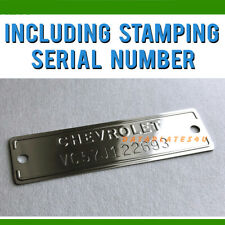 CHEVROLET 1953-1963 DATA PLATE ID VIN TAG SERIAL NUMBER CHEVY TRUCK CORVETTE