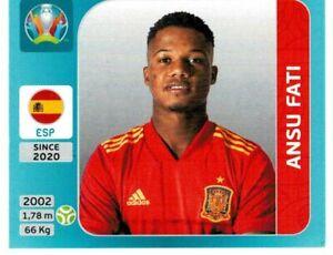 PANINI EURO 2020 INTERNATIONAL EDITION FIGURINA N. 509 ANSU FATI (SPAIN) ROOKIE