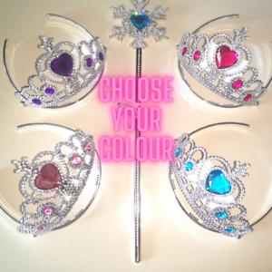 Princess Tiara Wand Girls Birthday Party Gift Christmas Stocking Filler Dress Up