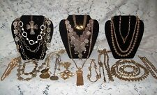 21 Piece Modern and Vintage Goldtone Mixed Necklace Lot