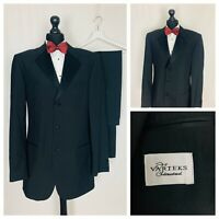 Tuxedo Dinner Evening Suit Mens 40XL 34W 34L Black Formal Cruise Party  OR463