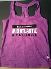 NEW Reebok CrossFit Mid-Atlantic Regional Racerback Tank Women's Small Sm Purple