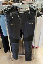 Zara Man ZMDC Denim Jeans Tapered Skinny Slim Wash Zip Fog Black Stretch size 36