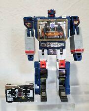 Transformers Oversized Soundwave G1 KO Complete Laserbeak Ravage Rare 8.5 Inch
