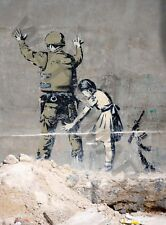 Banksy Girl & Soldier Graffiti Street Art Large Poster Art Print Lf3730