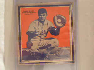 1936 JIMMY WILSON OF PHILADELPHIA PHILLIES FROM WHEATIES CEREAL BOX