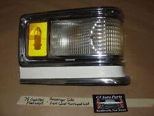 75 Cadillac Deville RIGHT FRONT CORNER TURN SIGNAL PARK LIGHT LENS BEZEL HOUSING