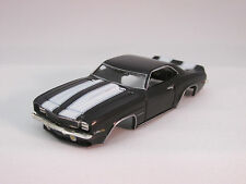 MODEL MOTORING BLACK W/WHITE STRIPES '69 CAMARO Z-28 SHELL ~ NEW~FIT AURORA TJET