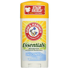 NEW Arm & Hammer Essentials Natural Deodorant Unscented 2.50 Ounces