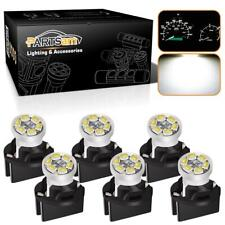 6xPC168 Instrument Cluster White led Light Bulb Dashboard Sockets For Chevy