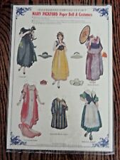 Mary Pickford Embossed Paper Doll & Costumes - new old stock
