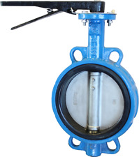 4 CPS Wafer Style Ductile Iron Butterfly Valve, 316SS Disc, EPDM Liner