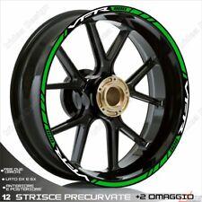 Trims Wheel Stickers Sport Honda VFR 750 800 1200 White Green
