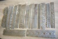 Metal Trim 20-23cm / 8.5 to 9 inch Long Tin Ribbon Lace Filigree Edging