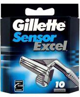 Gillette Sensor Excel Razor Blades - 10 Cartridges