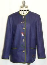 """ALPHORN BLUE / LINEN JACKET Coat Austria Women Summer Dress Pants 40 12 M B42"""""""
