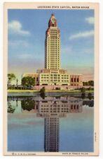 Louisiana State Capitol, Baton Rouge c1935 Lady of The Lake, reflection