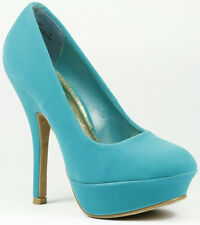 Round Toe Velvet High Stiletto Heel Platform Pump Bamboo Dash-02