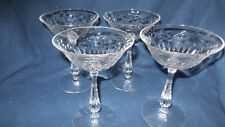 "Tiffin/Franciscan Glass Co. #17399 ""Colton"" (4) Tall sherberts/Champagnes"